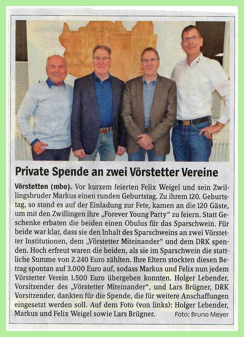 Wochenzeitung 'Von Haus Zu Haus' am 30.01 2010